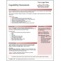Capability Statement Editable Template - Red - TargetGov TargetGov