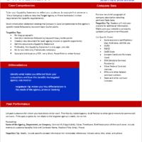 TargetGov Capability Statement Editable Template TargetGov