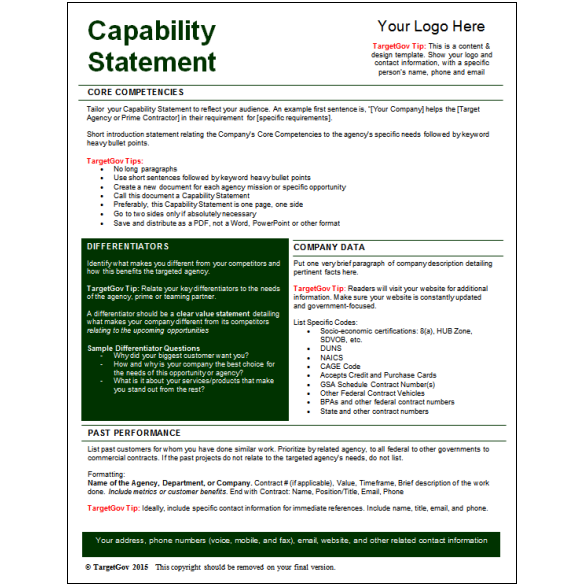 100 sle capability statement templates u2013 100